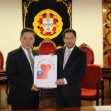 Representante do Centro Económico e Cultural de Taipei em Portugal entrega donativo a Tondela