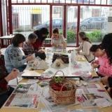 Workshop de Decoupage no Mercado Velho