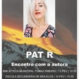 A escritora PAT R está em Tondela para dois encontros com os alunos