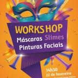 Workshop de máscaras, slimes e pinturas faciais na Biblioteca Municipal de Tondela